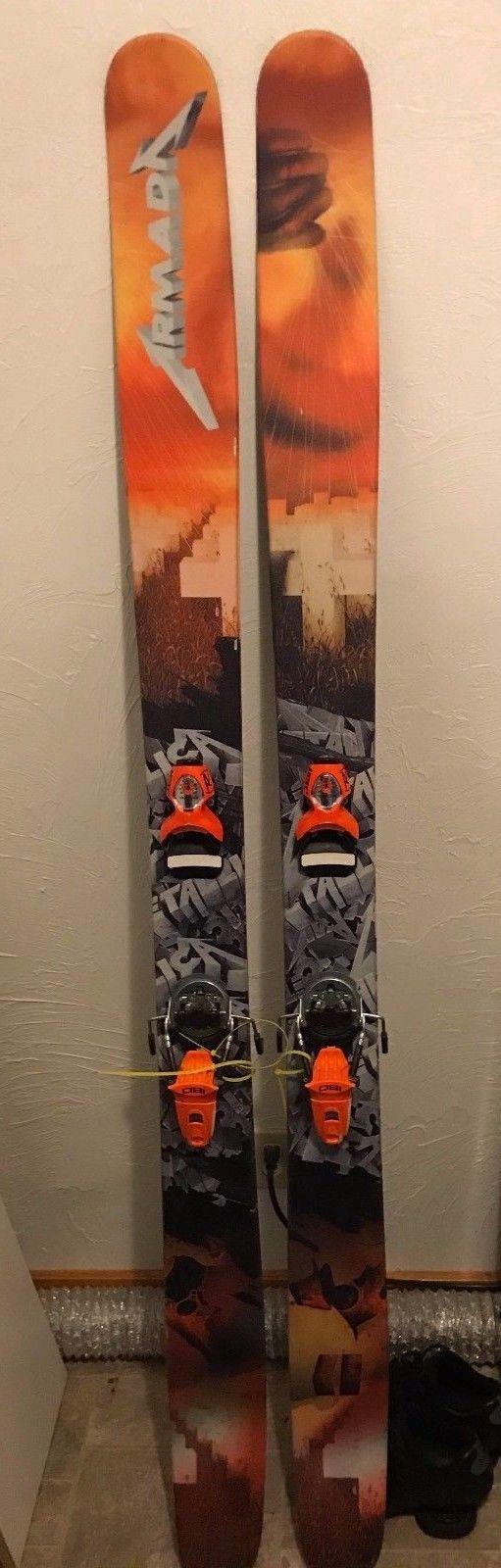 Armada JJ 2.0 195cm Metallica special edition skis, Rossignol FKS 180 bindings