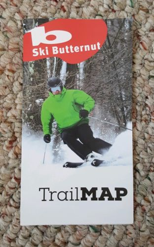 Butternut 2016-2017 Trail Map SKI THE EAST Mountain MA Berkshires Okemo Mt Snow