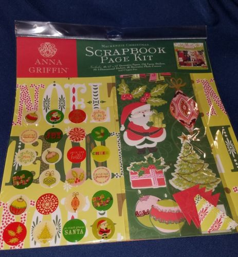 ANNA GRIFFIN MACKENZIE CHRISTMAS SCRAPBOOK PAGE KIT