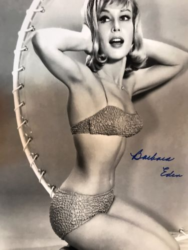 Autographed Barbara Eden 11x14 Photo Bikini Pose JSA Certified Witnessed Signed