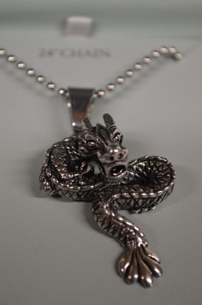 NEW Men's Stainless Steel Dragon Necklace, 1913 Men's Accessories