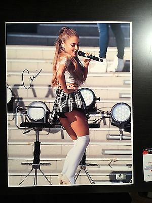 Ariana Grande Signed 11X14 Photo Sam And Cat Autographed COA GA