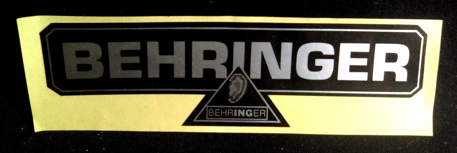 Vintage Behringer Amp Amplifier Guitar Black Silver Logo Sticker 6 X 2