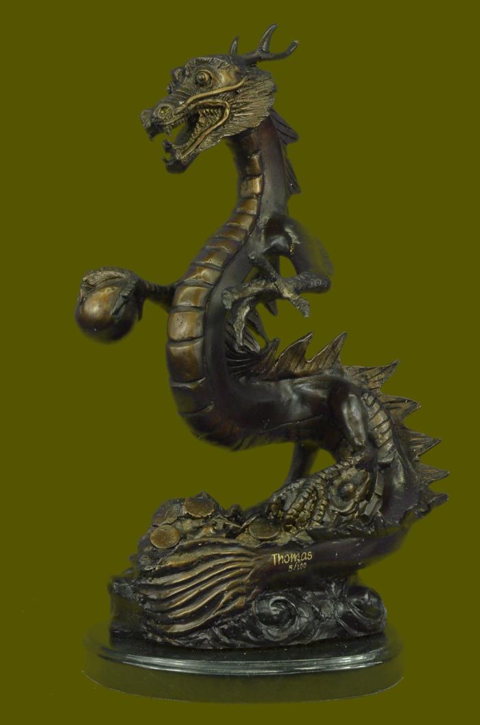 Huge Sale Fantasy Mythology Gargoyle Unique Bronze Statue Sculpture LTD Edit