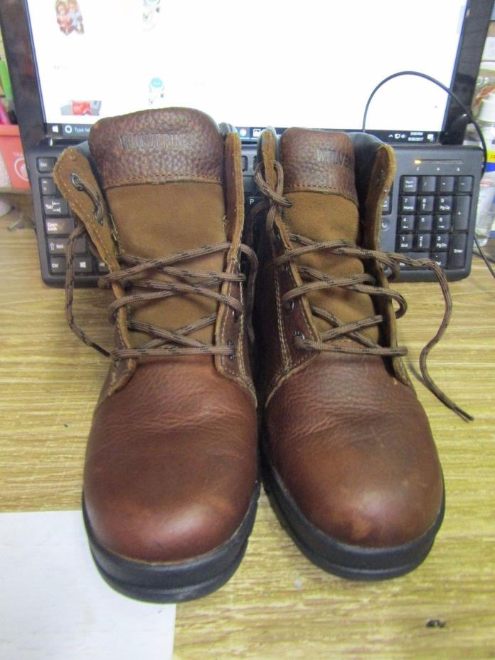 B4m Wolverine W04735 Marquette Plain Toe Work Safety SR Ankle Boots Men US 10ew