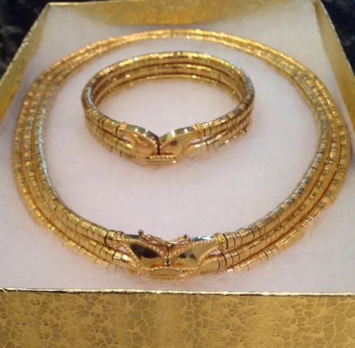 Ilias Lalaounis 18K Yellow Gold Helen of Troy Necklace and Bracelet  Stunning...