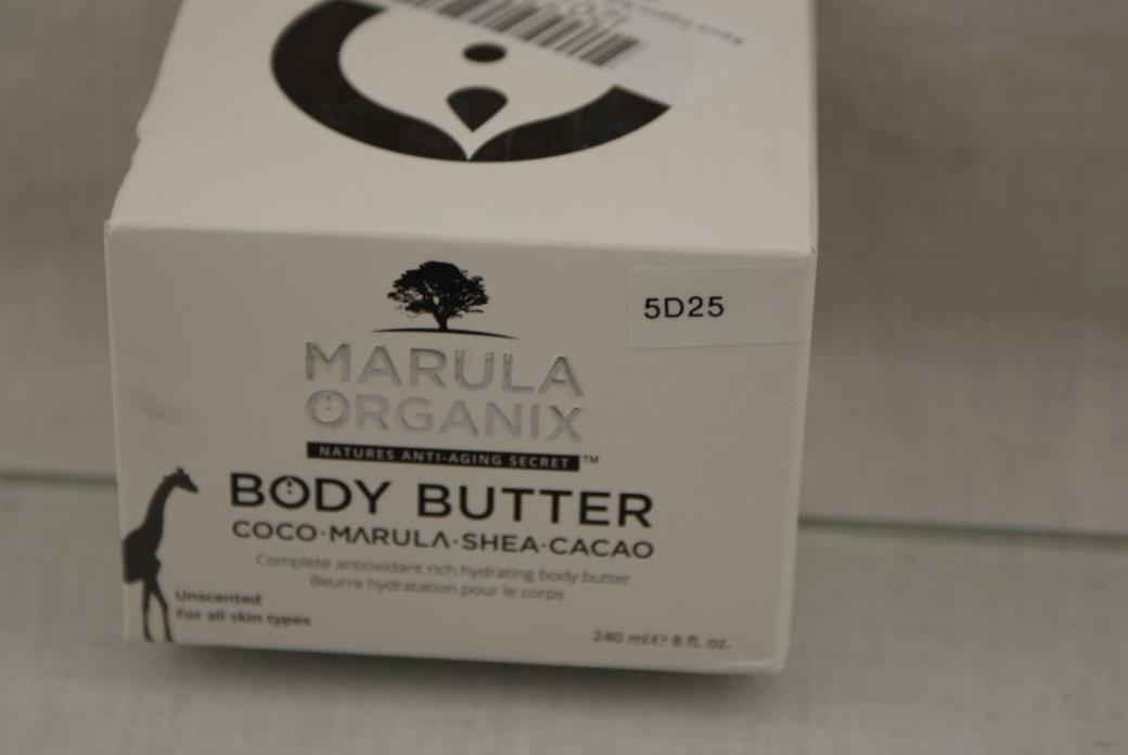 Marula Organix Body Butter (8oz) Complete Antioxidant  OPEN BOX 5D25