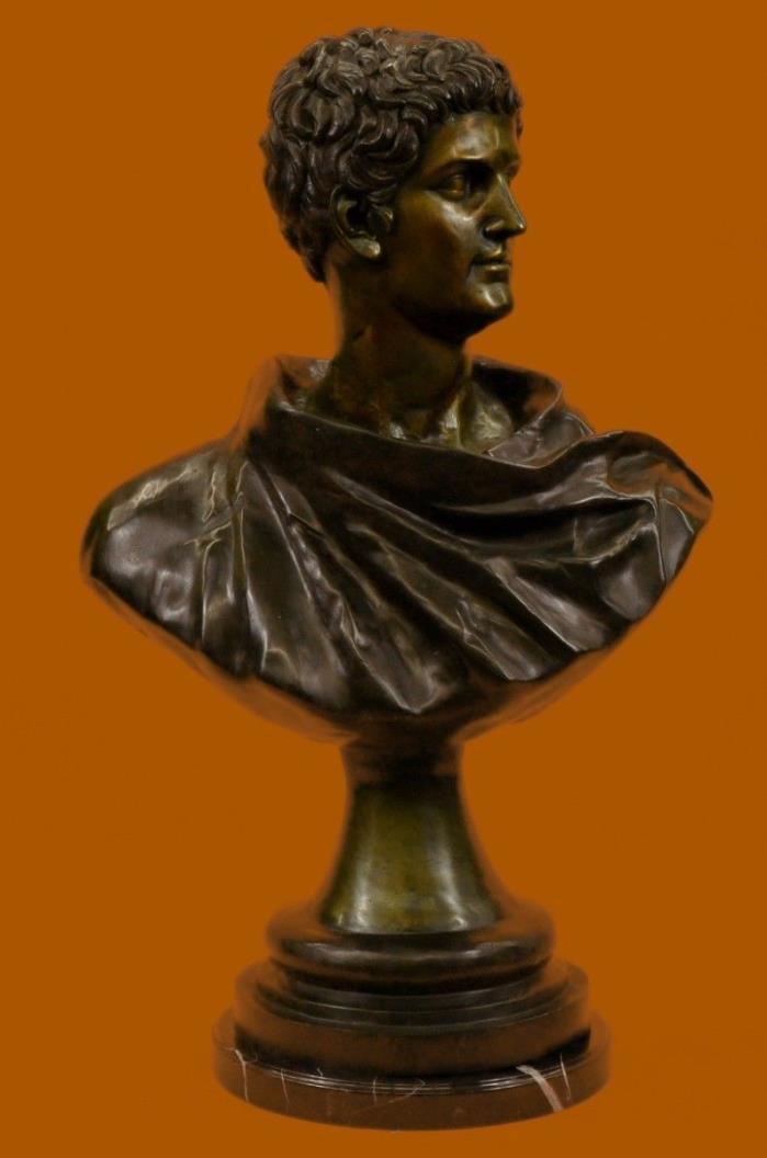 Huge Sale Politician General Mark Anthony Bronze Sculpture Bust Marble Figurine