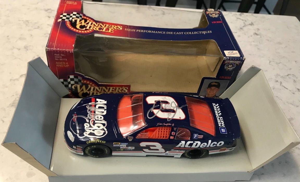 Dale Earnhardt Sr & Dale Earnhardt Jr Signed 1998 AC DELCO WC 1/24 Diecast Car