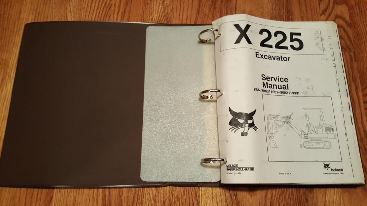 Bobcat X225 (S/N 508311001-508311999) Service Manual w/ Binder