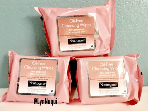 Neutrogena Oil-Free Cleansing Wipes Pink Grapefruit (Pack of 3)