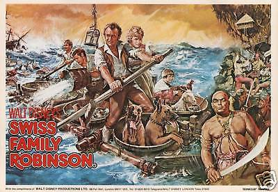 Disney's Swiss Family Robinson movie poster print, mini print 8.25