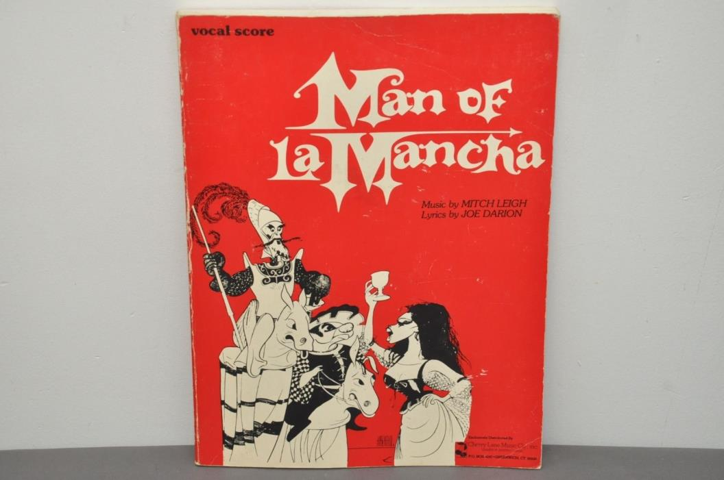 Man of La Mancha Musical Vocal Score Paperback