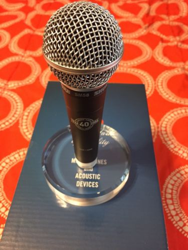 NEW Shure SM58 40th Anniversary Microphone Limited Numbered Edition with Stand