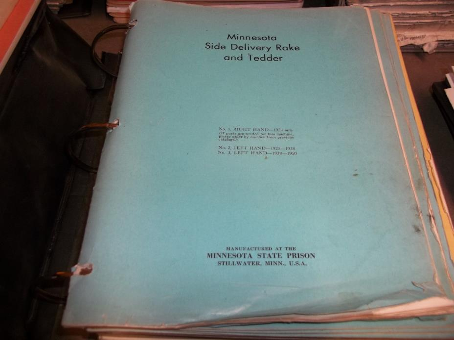 Minnesota Farm Implement Manuals LOOK!