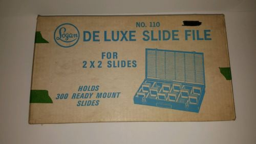 Logan's delux  vintage slide file  holds 300 slides original box Polaroid film