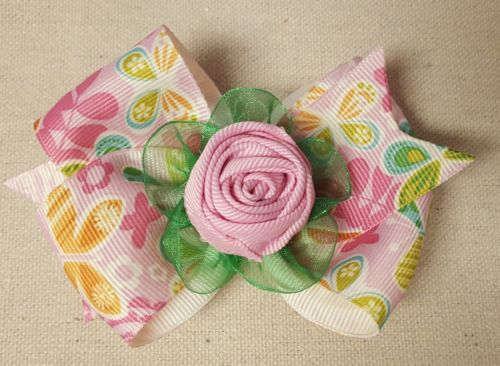 Floral Hair bow with alligator clip,Floral Hair Accessory