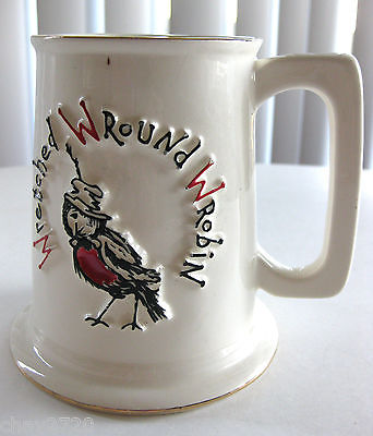 WRETCHED ROUND ROBIN MUG, MICHAUD, L.A. - Made in U.S.A.