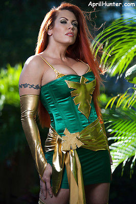 April Hunter Tribute to Marvels X-Men Jean Grey 8X10 Signed and personalized
