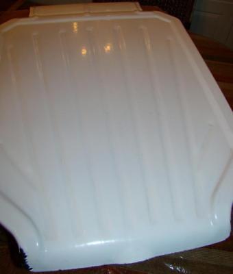 Vtg White Porcelain Kitchen Sink Basin Extention Drainboard Ingram Richardson