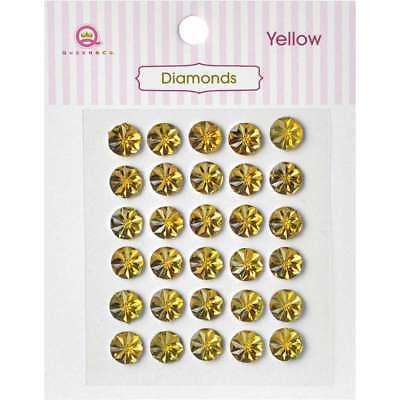 Queen & Co Diamond Self-Adhesive 30/Pkg Yellow 876387006238