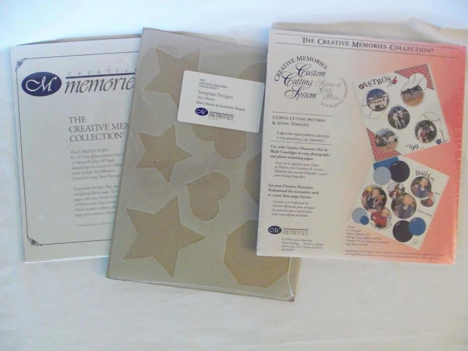 NIPCreative Memories LOT 3Circle Cutting Patterns+Template designs+8X10 pg prots