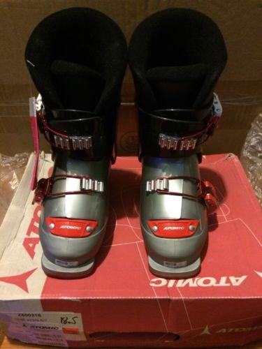 NEW! Atomic Ski Boots. Juniors Size 11 US. (iJ 20 Sil/bla) Free Shipping!