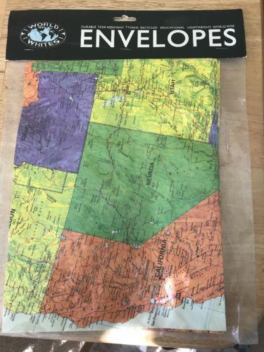 Map Design Tyvek Envelopes
