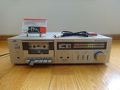 JVC KD-D2 Stereo Cassette Tape Deck Player 1981 Japan 100% TESTED WORKS GREAT!
