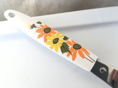 Vintage Ekco Daisy Flowered Frosting Icing Cake Knife Spatula Stainless USA