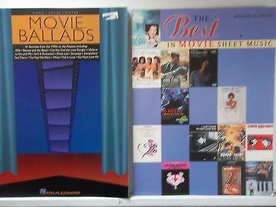 Movie Ballads 41 favorites & Best in MOVIE sheet music songbooks guitar piano