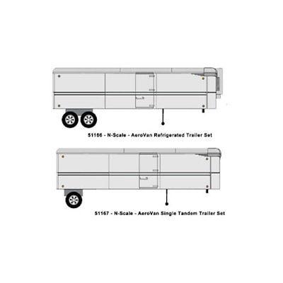 Classic Metal Works MWI51167 N Aerovan Trailer Tandom Wheel Set,Undecorated (2)