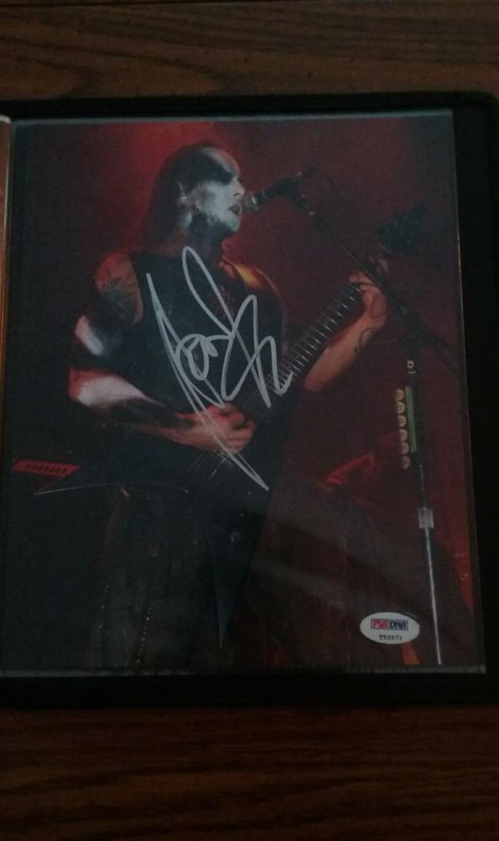 Adam Darski *Nergal* Behemoth Autographed 8x10 With PSA Certification