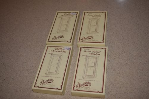 HOUSEWORKS DOLLHOUSE WINDOWS #5032 - INCLUDES 4