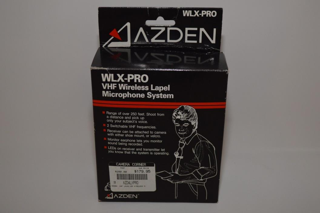 Azden WLX-Pro Wireless Mic System WLXPRO NEW