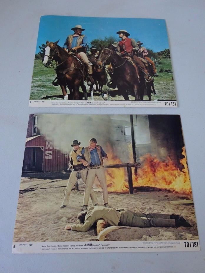 Original 1970 Chisum Movie Color Lobby Cards, John Wayne