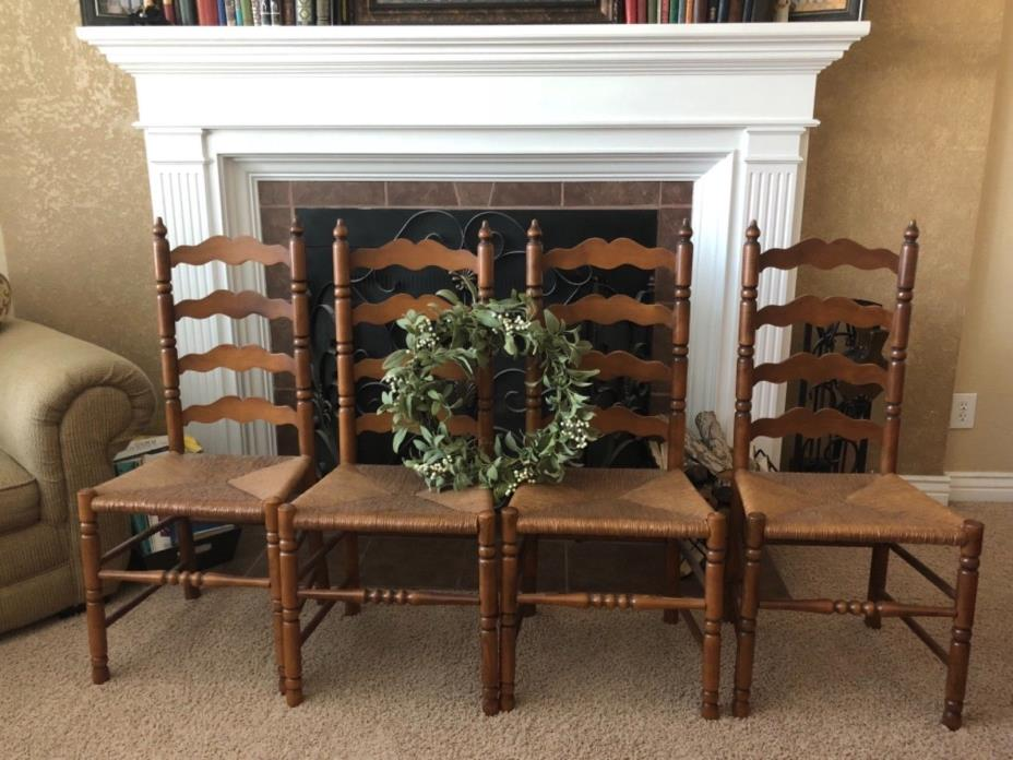 Tell City Maple Ladder-back Chairs