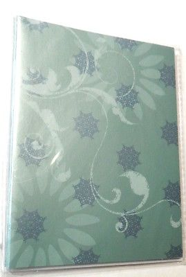 Note Cards Blank 6 ct Green Envelopes White Crystal Palace NIP Colorbok