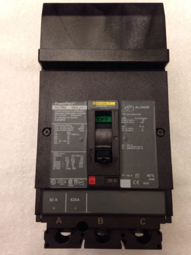 Square D HJ 060 HJA36050 PowerPact 50 Amp 600v 3 Pole Circuit Breaker (Tested)