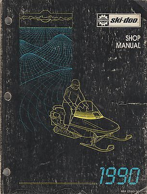 1990 SKI-DOO (see models in description) SHOP/SERVICE MANUAL 484 0560 00 (425)