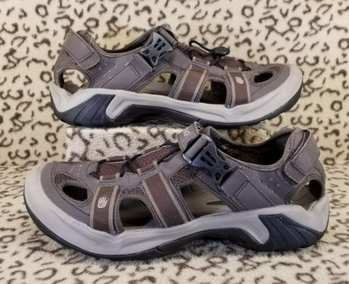 TEVA OMNIUM HYBRID WATER TRAIL HIKING SANDALS MENS SIZE 10.5 BROWN TAN SHOES