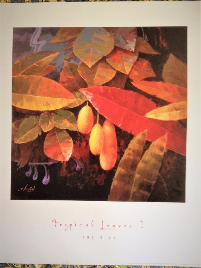 Jung K. An 'Tropical Leaves I' Litho in U.S.A Print