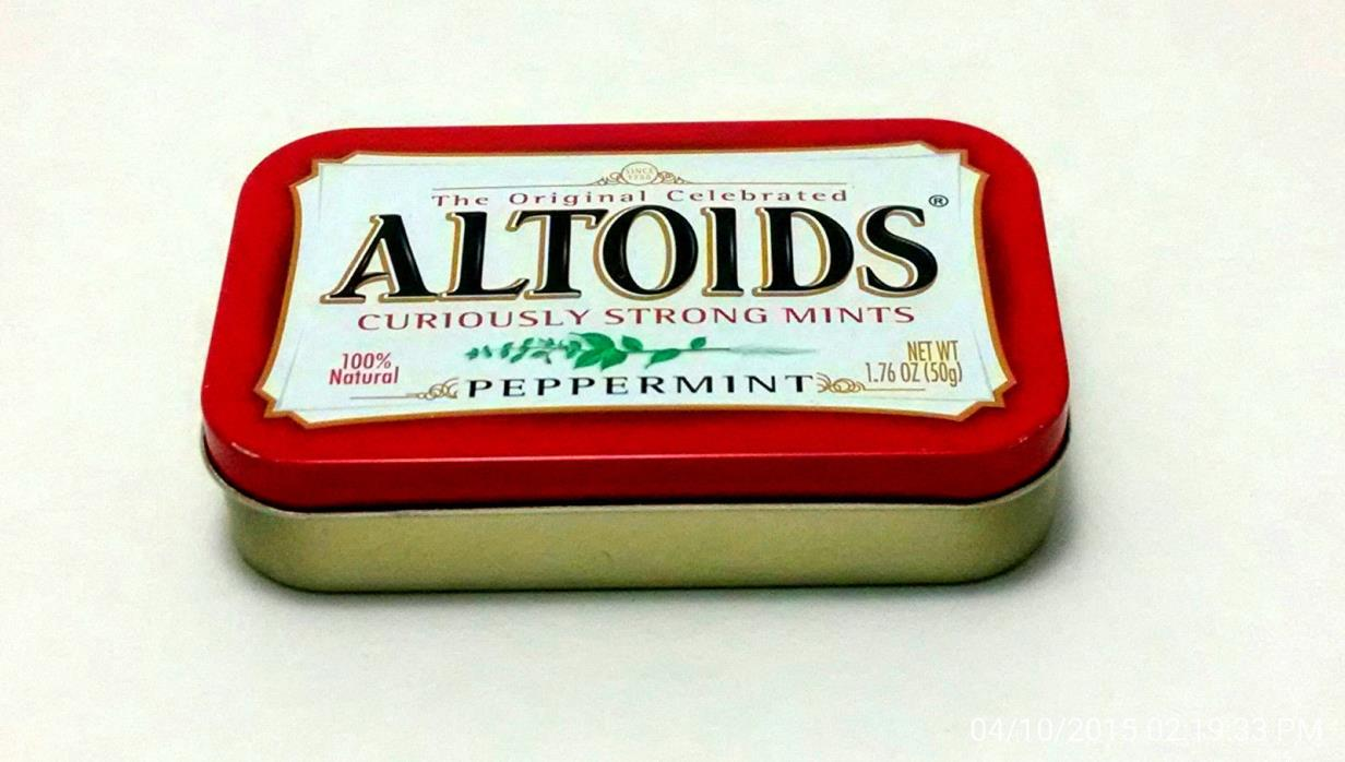 Lot of 20 ALTOIDS Peppermint Tins, Empty, Clean, Matched