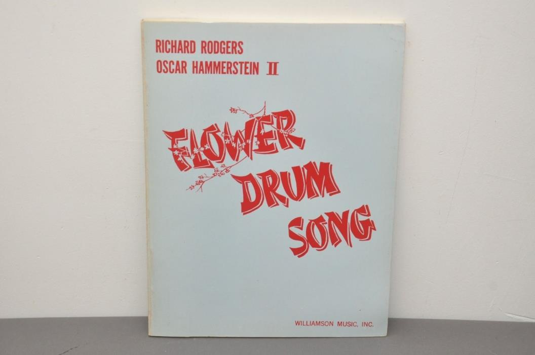 Flower Drum Song Musical Vocal Score Piano Paperback