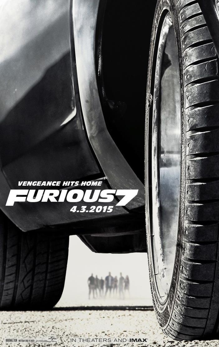 Fast and the Furious movie poster (b) Furious 7 movie poster - 11 x 17 inches