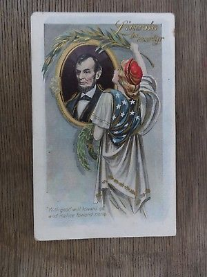 Postcard 1908 Lincoln The Martyr by H. M. Rose Unused