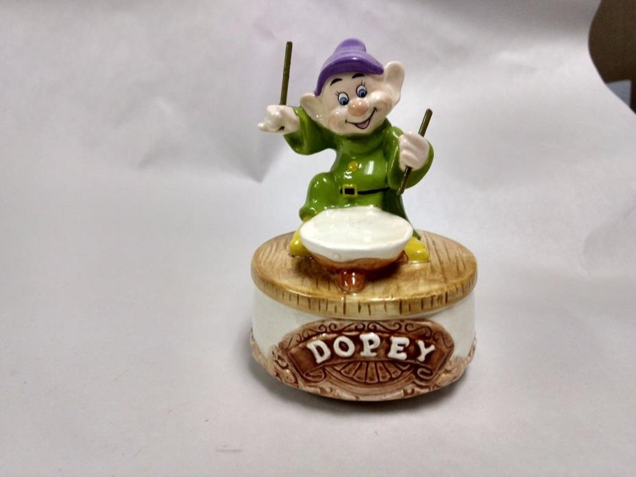 Disney Dopey Spinning Music Box Schmid Put On A Happy Face Snow White      hd107