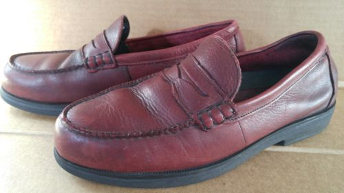 MENS RED WING STEEL TOE BURGUNDY PENNY LOAFER SZ 10.5D