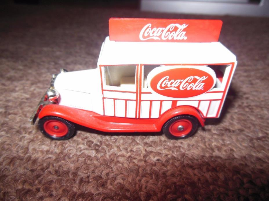 Vintage Coca Cola Lledo Special Licensed Product Die Cast Delivery Van Made in E