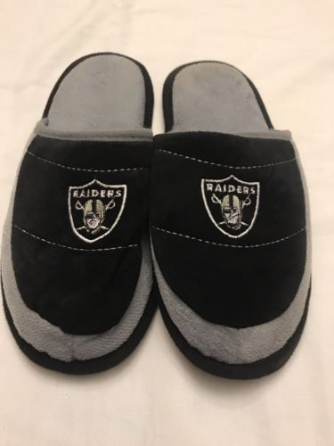 Raiders Men's House Slippers Size Small 7/8